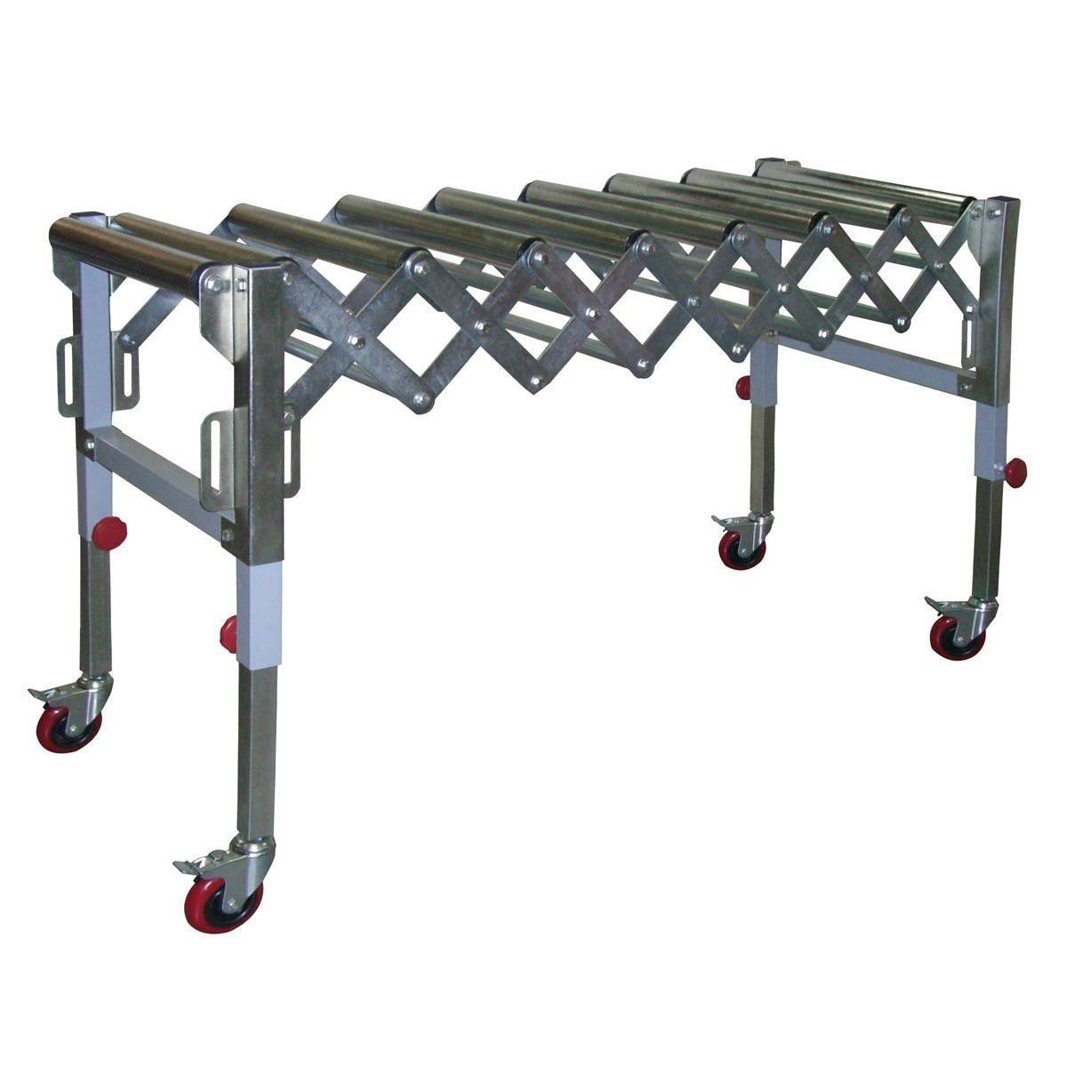 Convoyeur extensible à 9 rouleaux - Capacité de 130 kg  - #01
