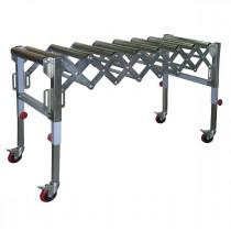 Convoyeur extensible à 9 rouleaux - RB9-A - Capacité de 130 kg maximum - Sur 4 roulettes