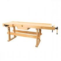 Établi en bois WB 210 - Plateau de 2100 x 780 mm