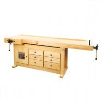 Établi en bois WB 210 C - Plateau de 2100 x 780 mm